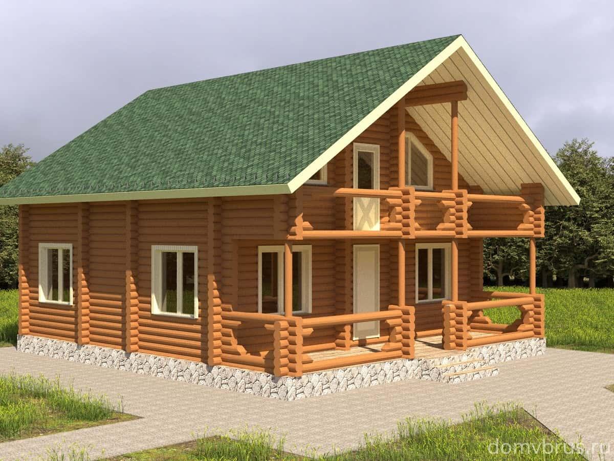 Дом из бревна Юрий